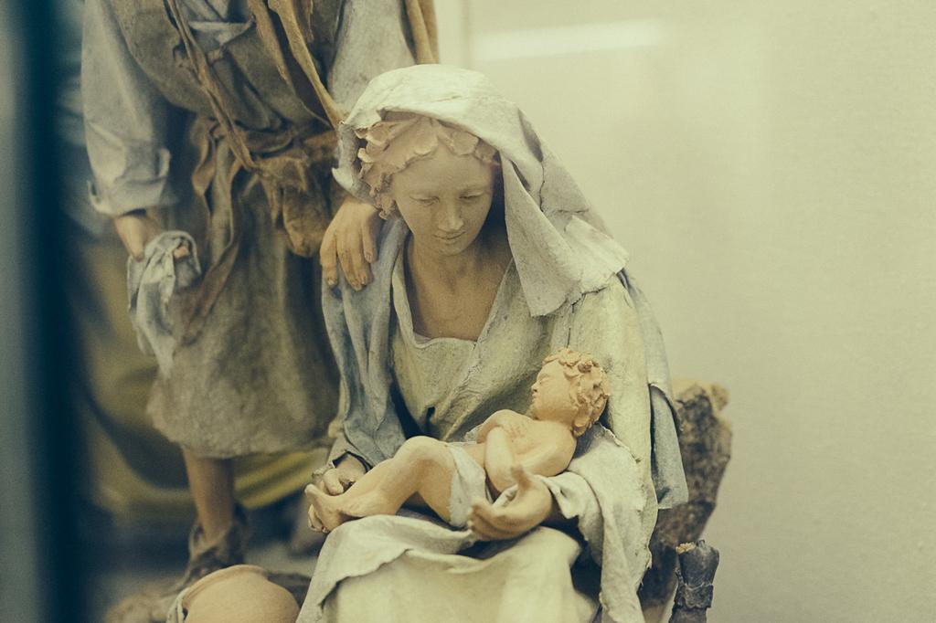 """Presepe dal Museo del Presepio """"Angelo Stefanucci"""" di Roma"""